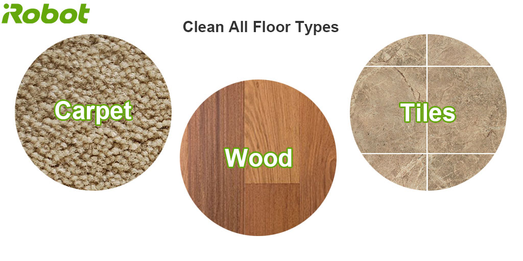 roomba could clean all floor types
