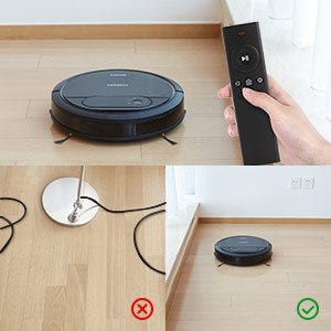 EcoVac, DeeBot N78, Vacuum Fanatics, Reviews and Comparisons, Automatic Vacuum Cleaners, remote