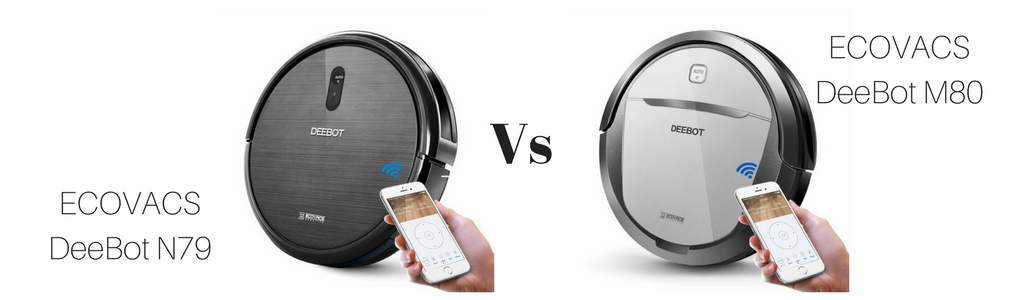 ECOVACS DeeBot N79 vs ECOVACS DeeBot M80 Comparison, Vacuum Fanatics, Reviews and Comparisons of Robotic Cleaners