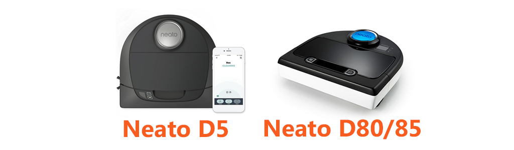 Neato D5 vs D80 D85 Robotic Vacuum