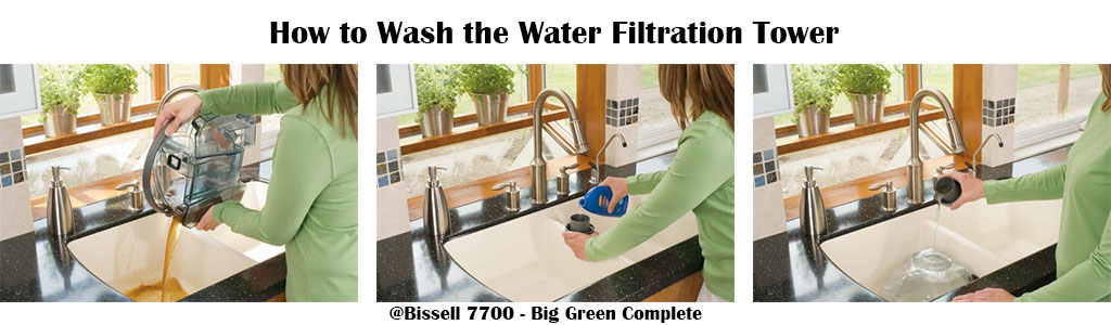 Bissell7700 - Big Green Complete - Home Deep Cleaning System - Wash the water filtration tower