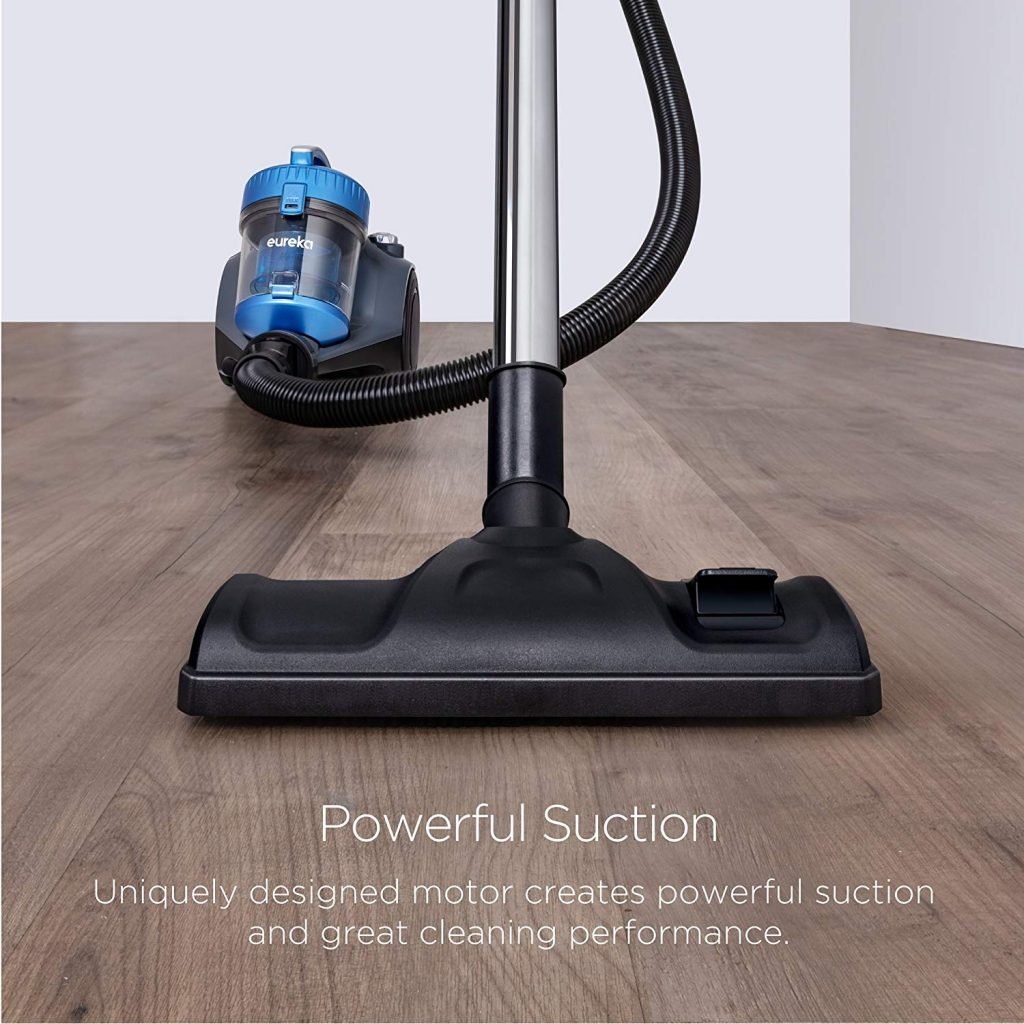 Eureka NEN110A Whirlwind Bagless Canister Vacuum Cleaner, Lightweight Corded Vacuum for Carpets and Hard Floors Powerfull suction